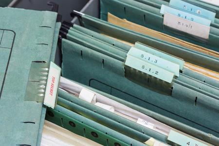 file folders: File folders in a filing cabinet