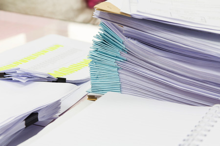 stack of papers: Stack of business papers