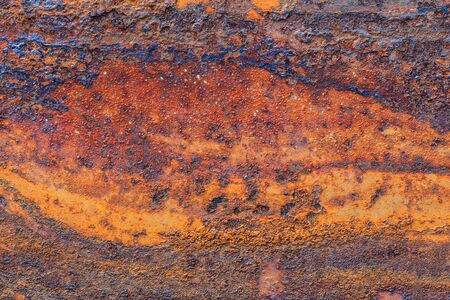 Orange Metal rusty background, Metal grunge texture