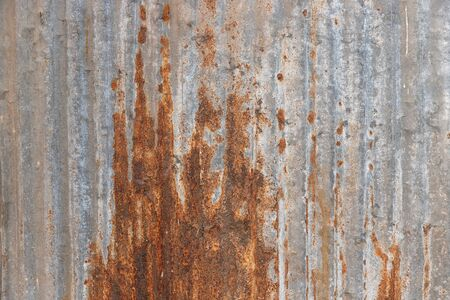 Orange Metal rusty background, Metal grunge texture on galvanized iron plate