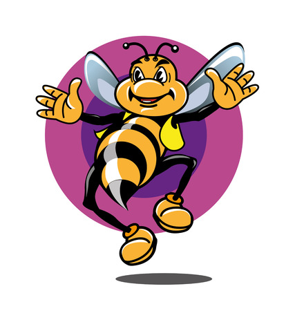 flank: illustration Honey Bee as a mascot or icon Illustration