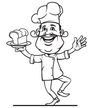 master chef: Master chef icon in outline style