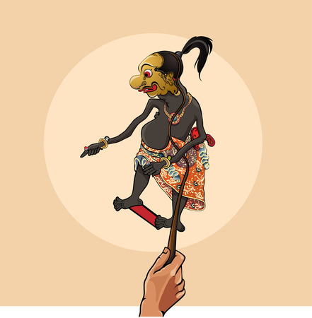 modification: modification funny character on javanese puppets Illustration