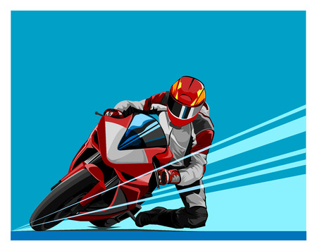 Vector illustration, shape world motor racing