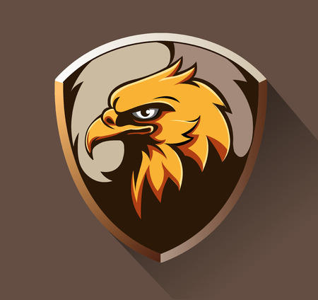 Vector illustration, eagle head as an emblem Illustration