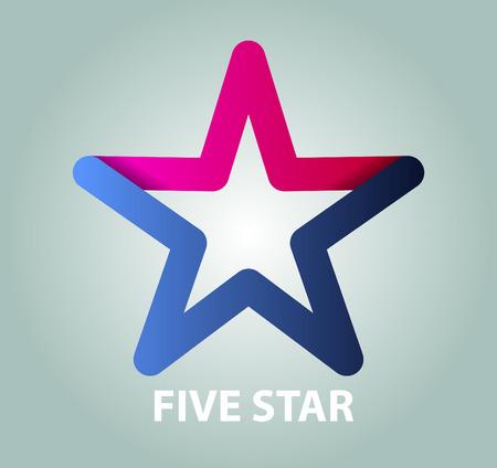 five stars: Vector abstract, five star symbol