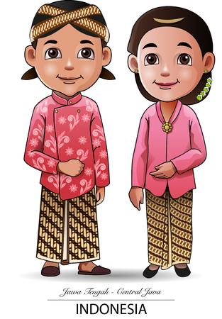 Vectorillustratie, Javanese traditionele doek