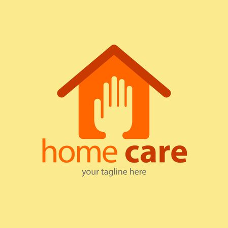 Vector abstract, home care symbol