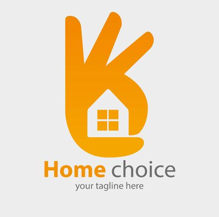 Vector abstract, home choice symbol. Illustration