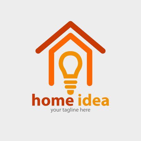 Vector abstract, home idea symbol.