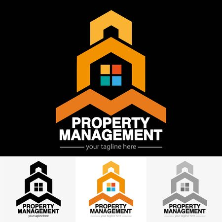 Vector abstract, property management symbol.