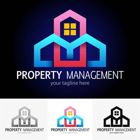 Vector abstract, property management symbol or icon