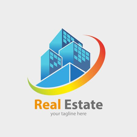 Vector abstract, Real estate concept symbol. Illustration