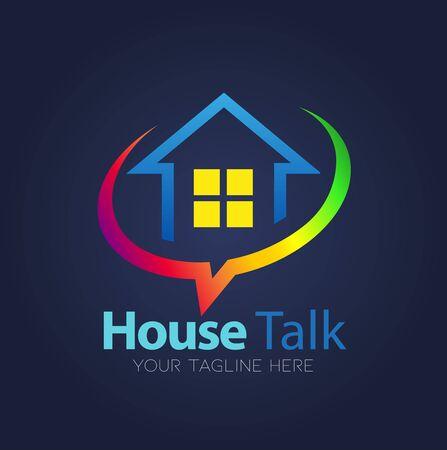 Vector abstract, house talk symbol.