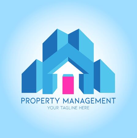 Vector abstract, property management symbol or logo.