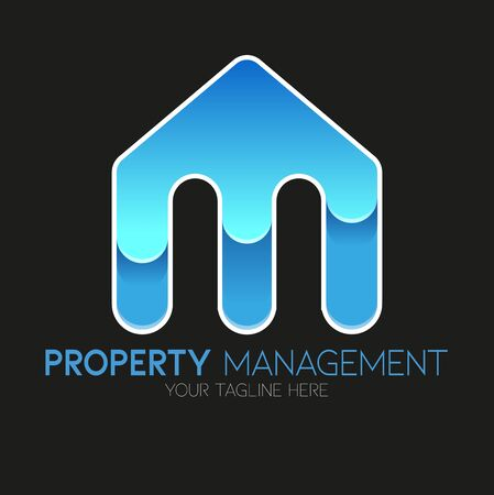 Vector abstract, Property management symbol or icon.