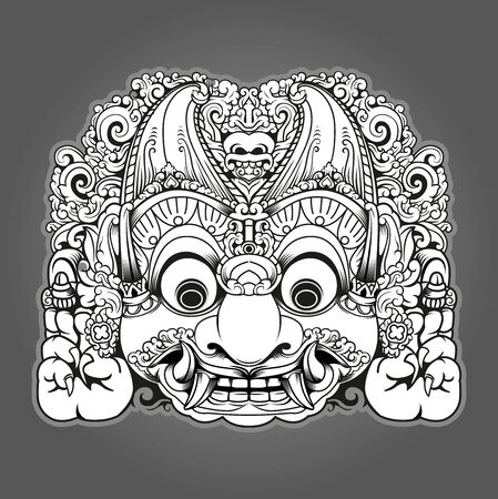 Vector illustration, Modified Batara Kala character, in Javanese mythology, Batara Kala is the God of destruction symbol.