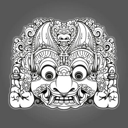 Vector illustration, Modified Batara Kala character, in Javanese mythology, Batara Kala is the God of destruction symbol. Vector Illustration