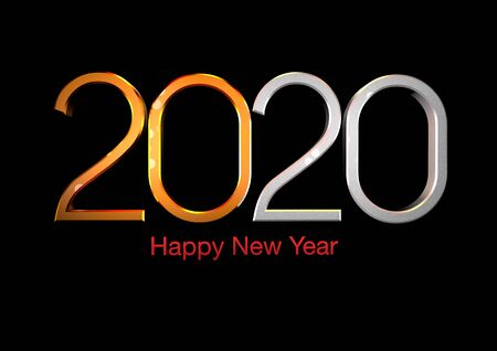 Modified the number 2020, as a symbol of the new year.