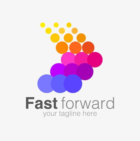 Vector abstract, fast forward symbol or icon.