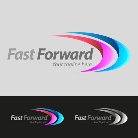 Vector abstract, fast forward symbol or logo business Illustration