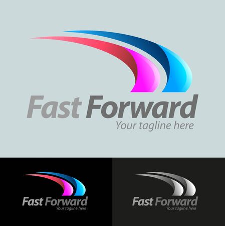 Vector abstract, fast forward symbol or logo business  イラスト・ベクター素材