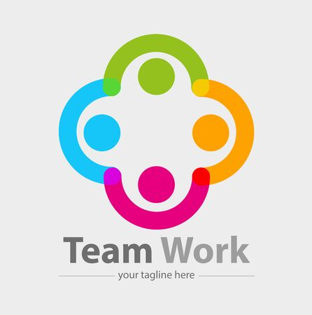 Vector abstract, teamworks symbol or icon