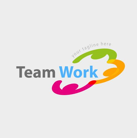 Vector abstract team work symbol