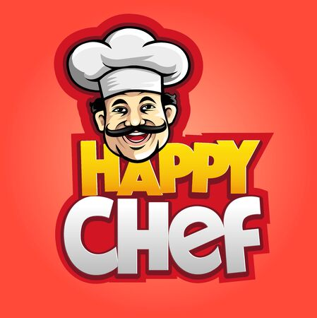Vector illustration, modification of a happy chef symbol for a restaurant or bakery business.
