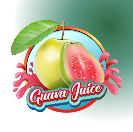 Vector illustration guava juice symbol Illustration