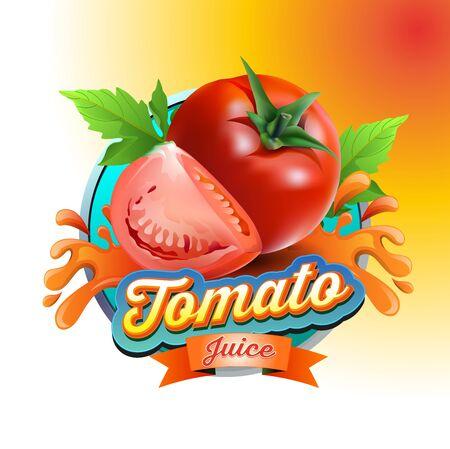 Vector illustration, tomato juice symbol