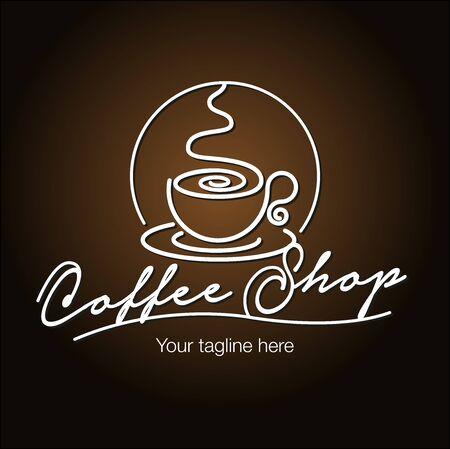 Vector abstract, Coffee shop symbol