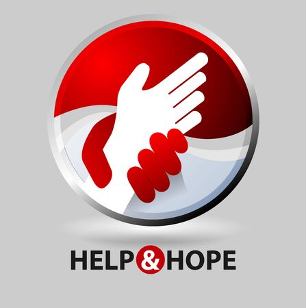 Vector abstract, help and hope symbol.