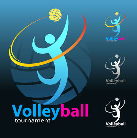 Volleyball symbol or logo event, vector design. Illustration