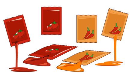 chili and tomatoes packaging wrap. The addition of flavor to chicken fried.