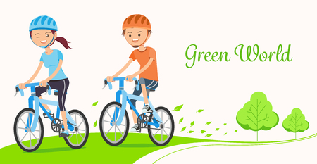 Driving bicycles to reduce pollution