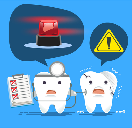 infected: Problem of dental disease concept