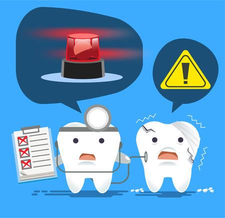 Problem of dental disease concept