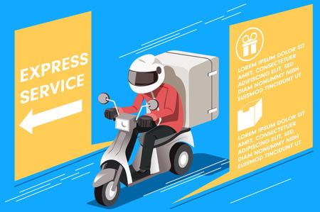 Concepto de servicio expreso de motocicleta