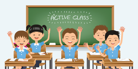 Good healthy students are interested in fun learning classes. Back to school.