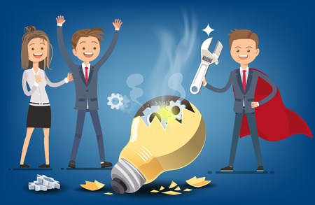 Leaders who are best  problem solver qualified. This is ideas are too old,Want to update. Employees who do not develop.Adaptation to the environment. Illustration