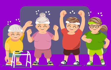 Elderly people with good health concept
