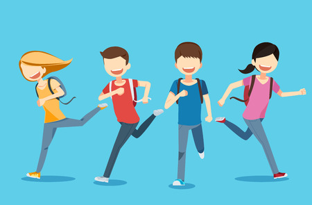 Teen and good health concept Illustration