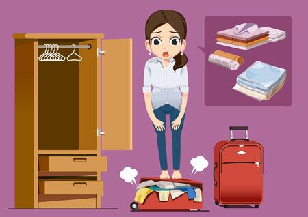 overload: Problems of travel concept Illustration
