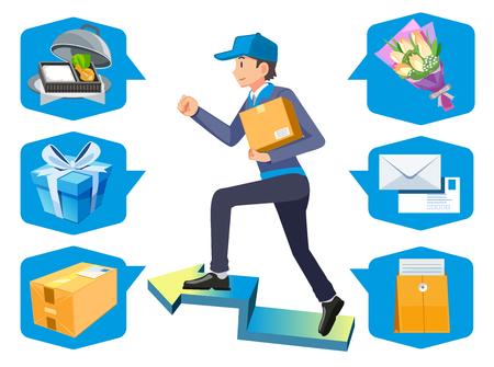 Paket kann mit dem Zustellpersonal senden. Waren sind für kleine Versandunternehmen geeignet.