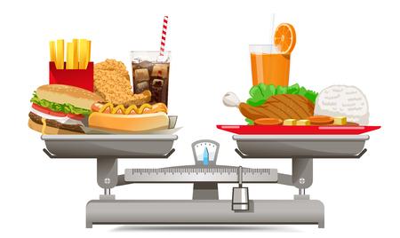 Diferentes valores alimentarios Elija alimentos que sean beneficiosos para el organismo. los alimentos adecuados en cada comida.