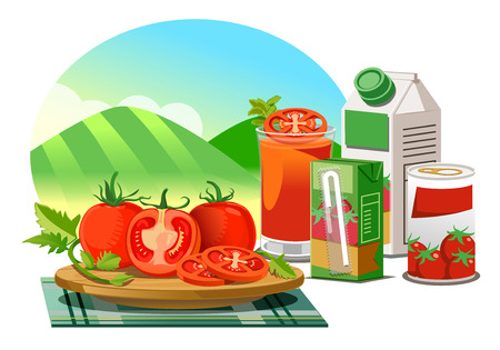 Products from the processing of tomatoes grown in good quality farm.