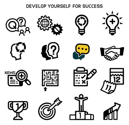 Develop yourself for success best quality. Set goals of work or learning.