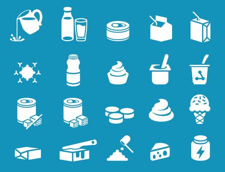 Icône de produit général de lait. Transformation industrielle laitière.