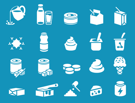 Milk general product icon. Dairy Industrial processing.